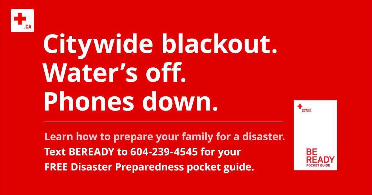 Disaster preparedness subway poster