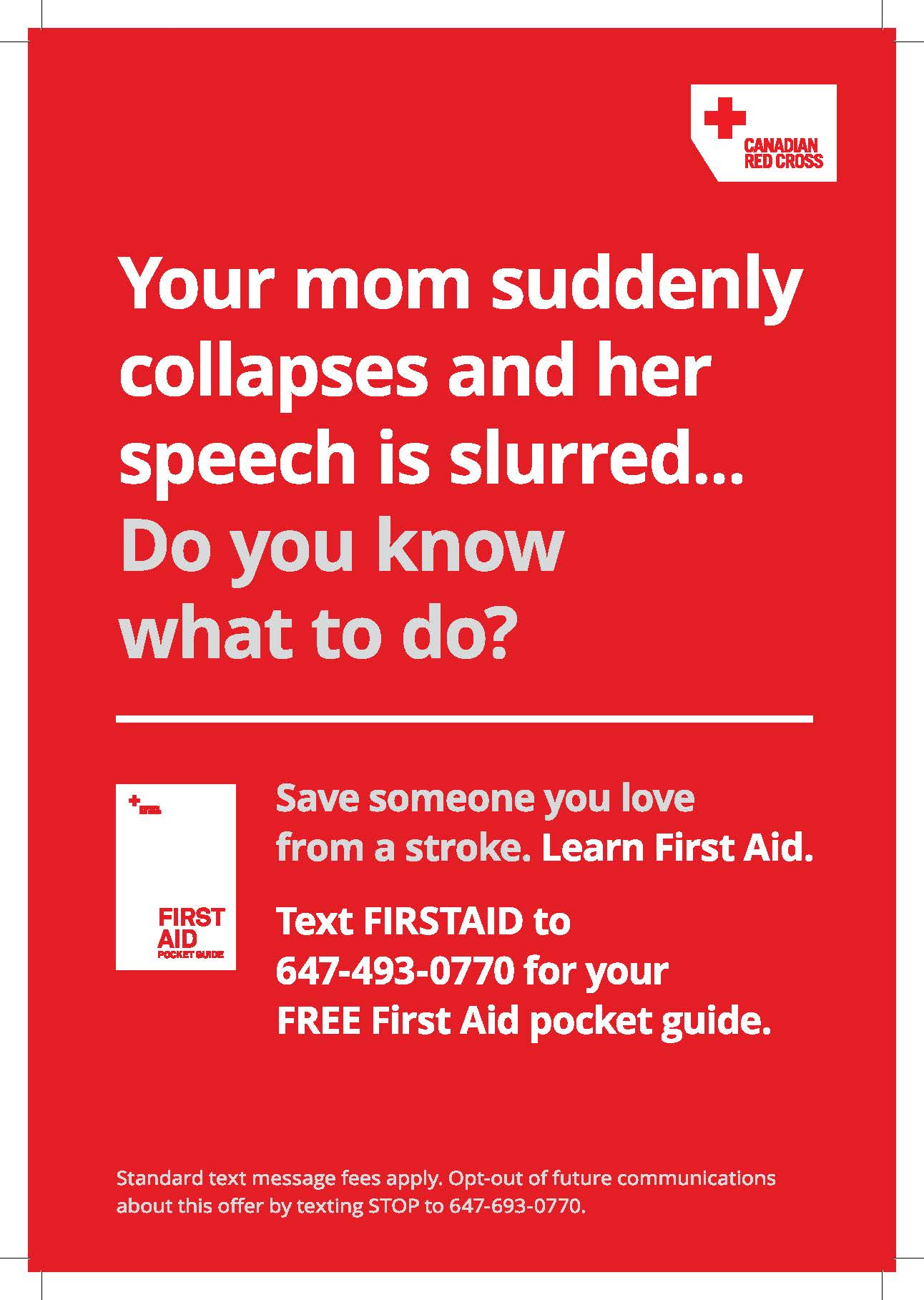 Subway poster with First Aid Guide